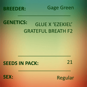 Gage Green-Atman 21 seed pack