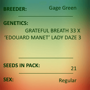 Gage Green-Causal Plane 21 seed pack