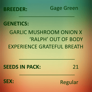 Gage Green-Gloria 21 seed pack