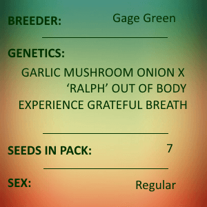 Gage Green-Gloria 7 seed pack