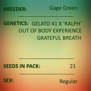 Gage Green-Mesmerizer 21 Seed Pack