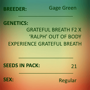 Gage Green-Mind's Eye 21 seed pack