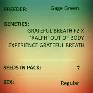 Gage Green-Mind's Eye 7 seed pack
