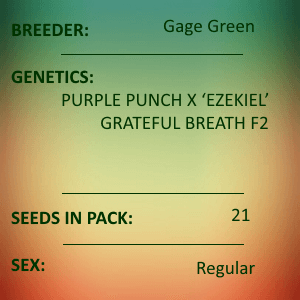 Gage Green-Over Soul 21 seed pack