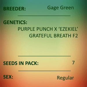 Gage Green-Over Soul 7 seed pack