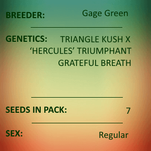 Gage Green-Trickster 7 seed pack