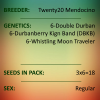 Twenty20 Mendocino - 3 Strain Durban Pack